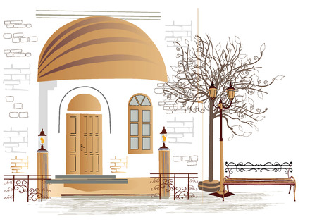 archway: Series of street cafes in the old city