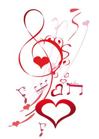 heart tone: Clave de sol decorativo