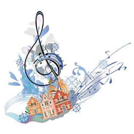 Musique d'hiver. Banque d'images - 63373524