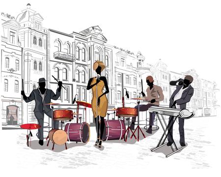 musico: Serie de las calles con los músicos de la ciudad vieja.