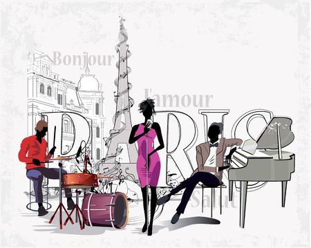 Serie der Straßen mit den Musikern in der Altstadt. Standard-Bild - 68632605