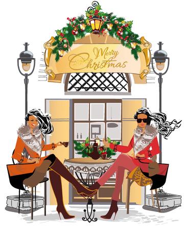 Diseño de la tarjeta de felicitación de Navidad.