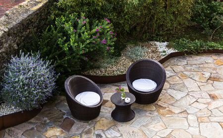 patio chairs: garden furniture on the terrace