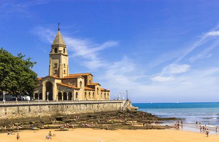 sun bathers: church close to the beach