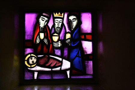 epiphany: Stained-glass Stock Photo