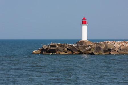 Lighthouse in Ventspils. Latvia photo
