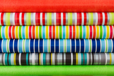 rolled paper: Colored rolled paper for wrapping gifts. Colorful background