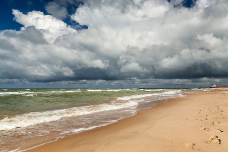 Baltic sea shore. Latvia Stok Fotoğraf