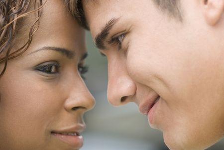 interracial couple: Young Interracial Couple  Stock Photo