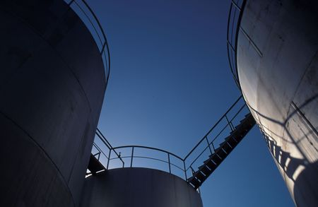 Oil industry Storage towers  Stock Photo - 4505333