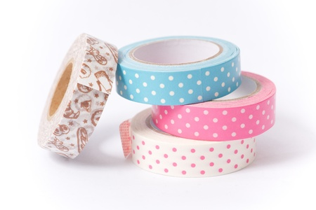masking: Washi tape roll   masking tape  Stock Photo