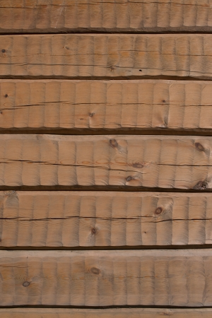 hand carved: Hand carved log wall, texture material for architecture 3D modeling. Horizontal light brown logs.