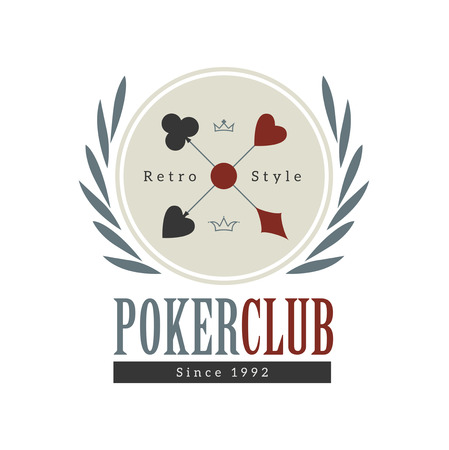 Vintage style design poker casino