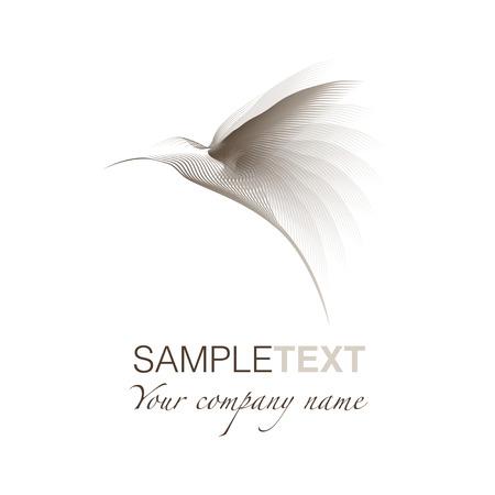 Hummingbird gestileerd logo Stock Illustratie