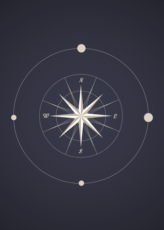 compass rose: Compass Rose. Old Style