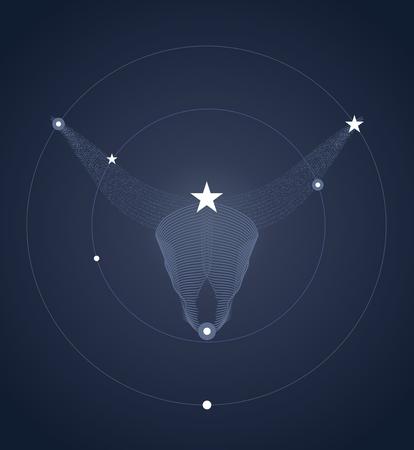 horned: Horned animal constelation