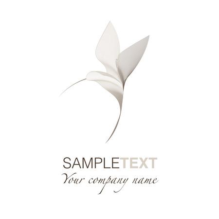 Hummingbird stylized logo Vettoriali
