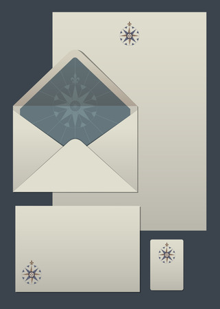 compass rose: Stationery compass rose Illustration
