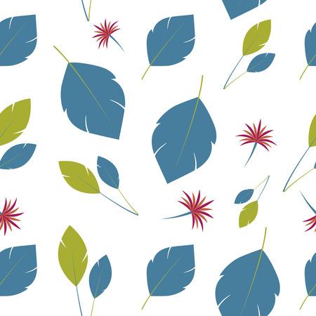 breeze: Background leaves. Summer breeze pattern Illustration