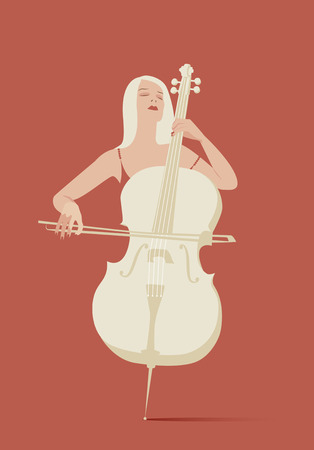 cellist: Woman playing cello