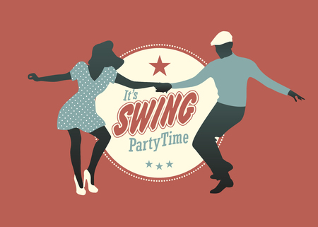 Young couple dancing swing, rock or lindy