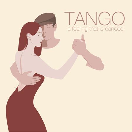 Junges Paar tanzt Tango