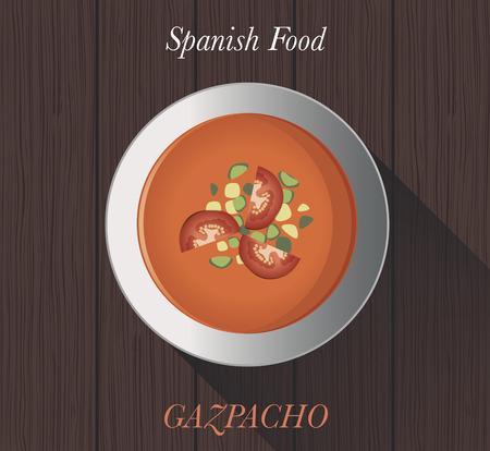 spanish food: Spanish Food: Gazpacho Typical spanish cold tomato soup