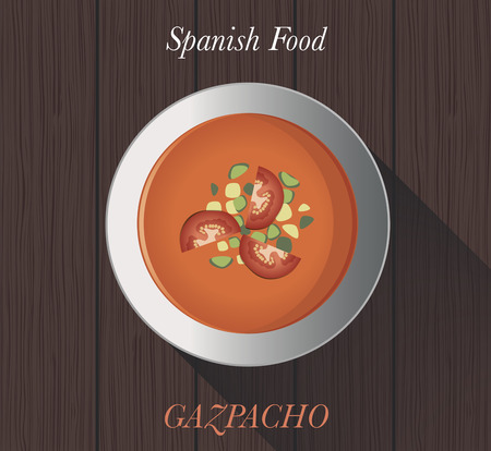 """Spanish Food: """"Gazpacho"""" Typical spanish cold tomato soup"""