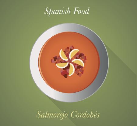 Spanish Food: salmorejo. Tomato cold soup typical Spanish