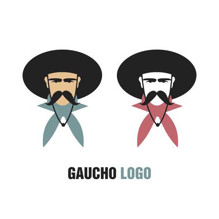 Gaucho Logo. Icon of South American cowboy