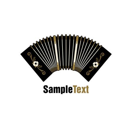 Bandoneon. Tradizionale strumento di tango musicale. Fisarmonica.