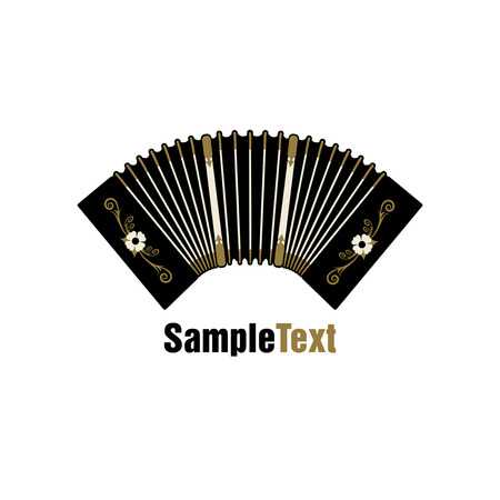 Bandoneon. Traditional tango musical instrument. Accordion.