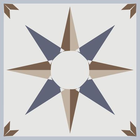 Ornamental tiles pattern. Vector Illustration.
