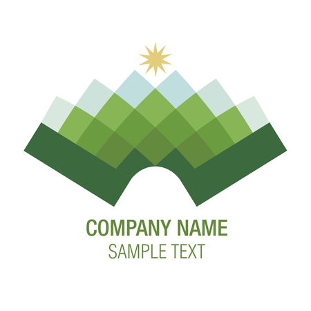 bandoneon: Music Mountain. Shaped mountain accordion or bandoneon. Vector Illustration, good for logo. Illustration