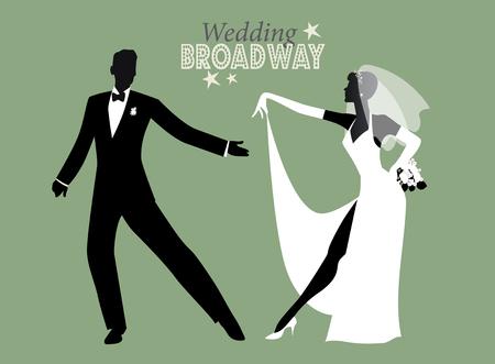 Hochzeitstanz Braut und Bräutigam tanzen Broadway Stil