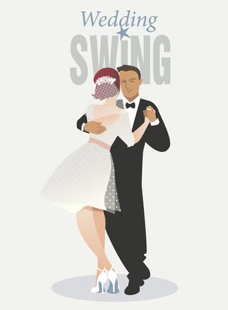 Wedding Dance. Bride and groom dancing