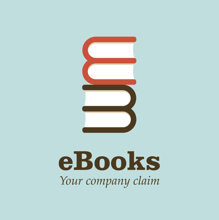 Logo open book. Vector Illustration