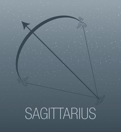 Zodiac Sign. Sagittarius. Vector Illustration Illustration