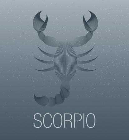 Zodiac Sign. Scorpio. Vector Illustration Illustration