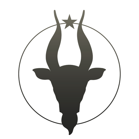 zodiacal symbol: Zodiac Sign. Capricorn. Vector Illustration