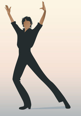 Spanish Flamenco dancer man. Vector Illustration