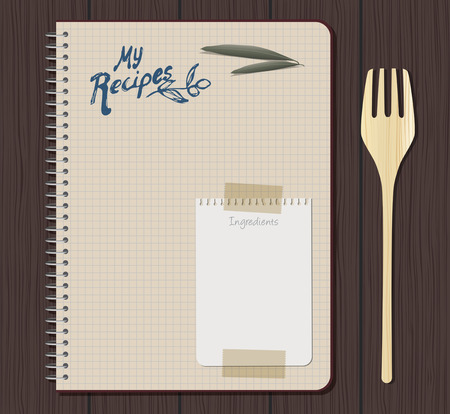 Recipe notebook graph with hand drawn text.