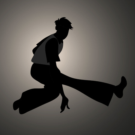 Silhouette of guy wearing wide trousers, dancing Northern Soul.