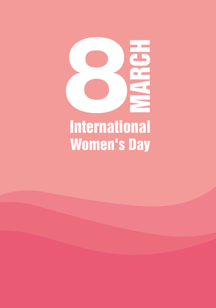 International Womens Day. Main title March 8.