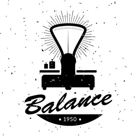 Vintage emblem of retro balance.