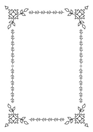 Ornamental Old Frame isolated on white background. Vintage Style
