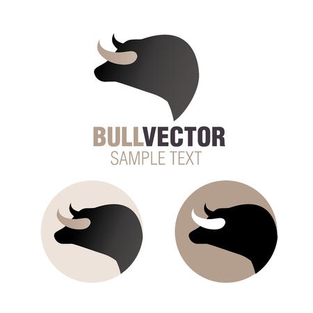 Graphic image of Spanish bull head isolated on white background Illustration