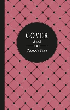 Old style book cover, decorated with star grid