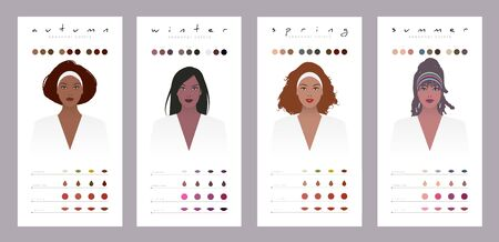 Seasonal colors for dark skinned, brunette, latin and African American women