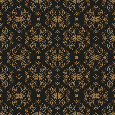 Decorative seamless pattern in vintage gothic style vector with ornamental elements